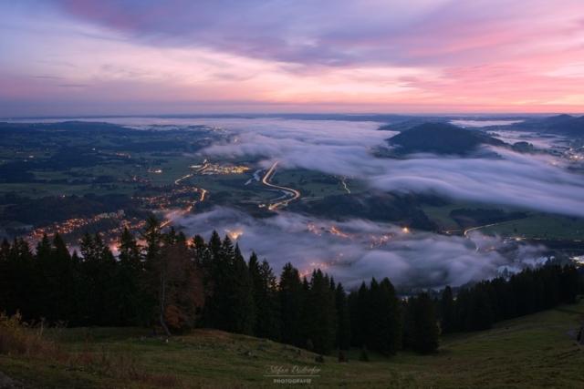 Immenstadt im Morgennebel
