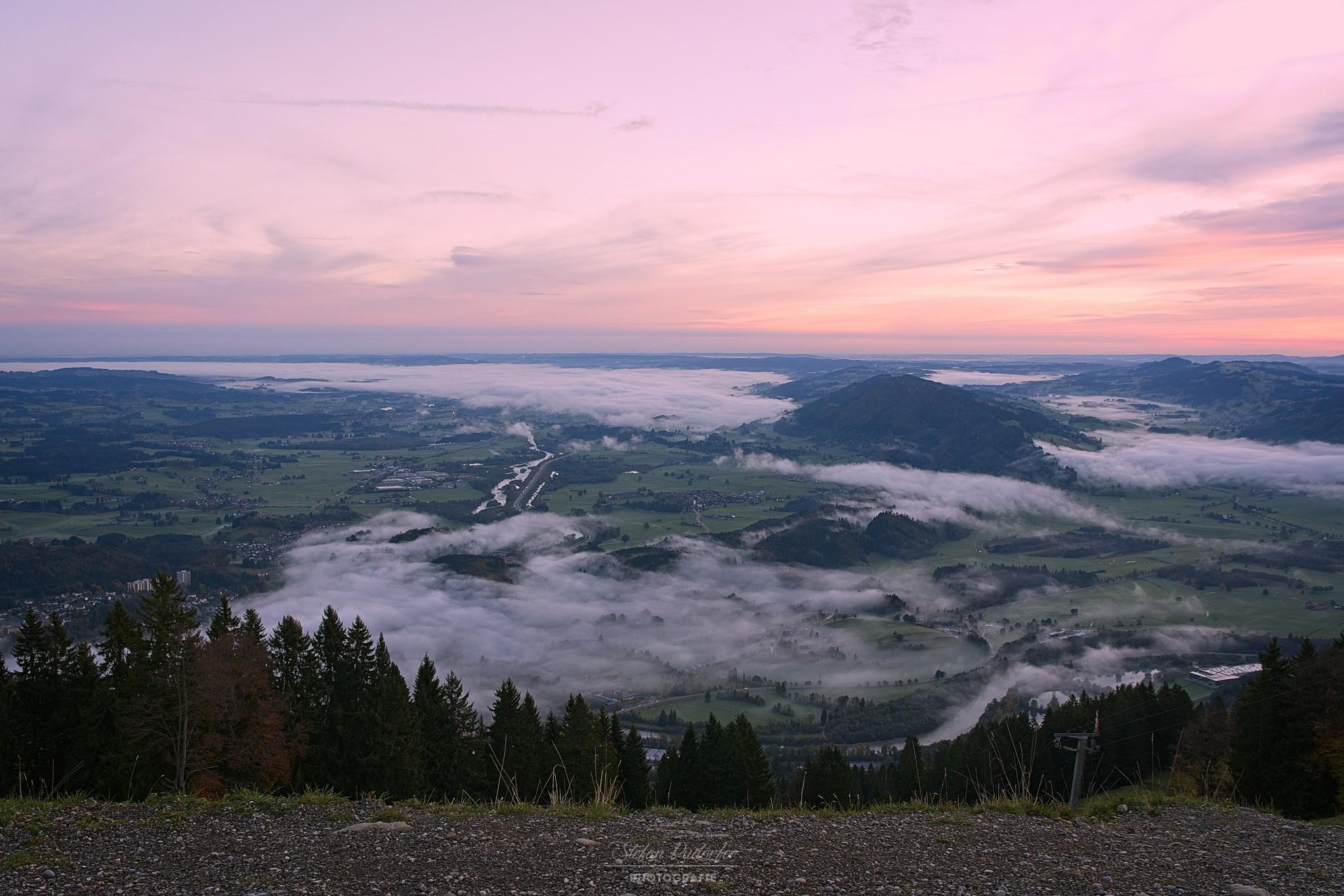 Immenstadt im leichten Nebel