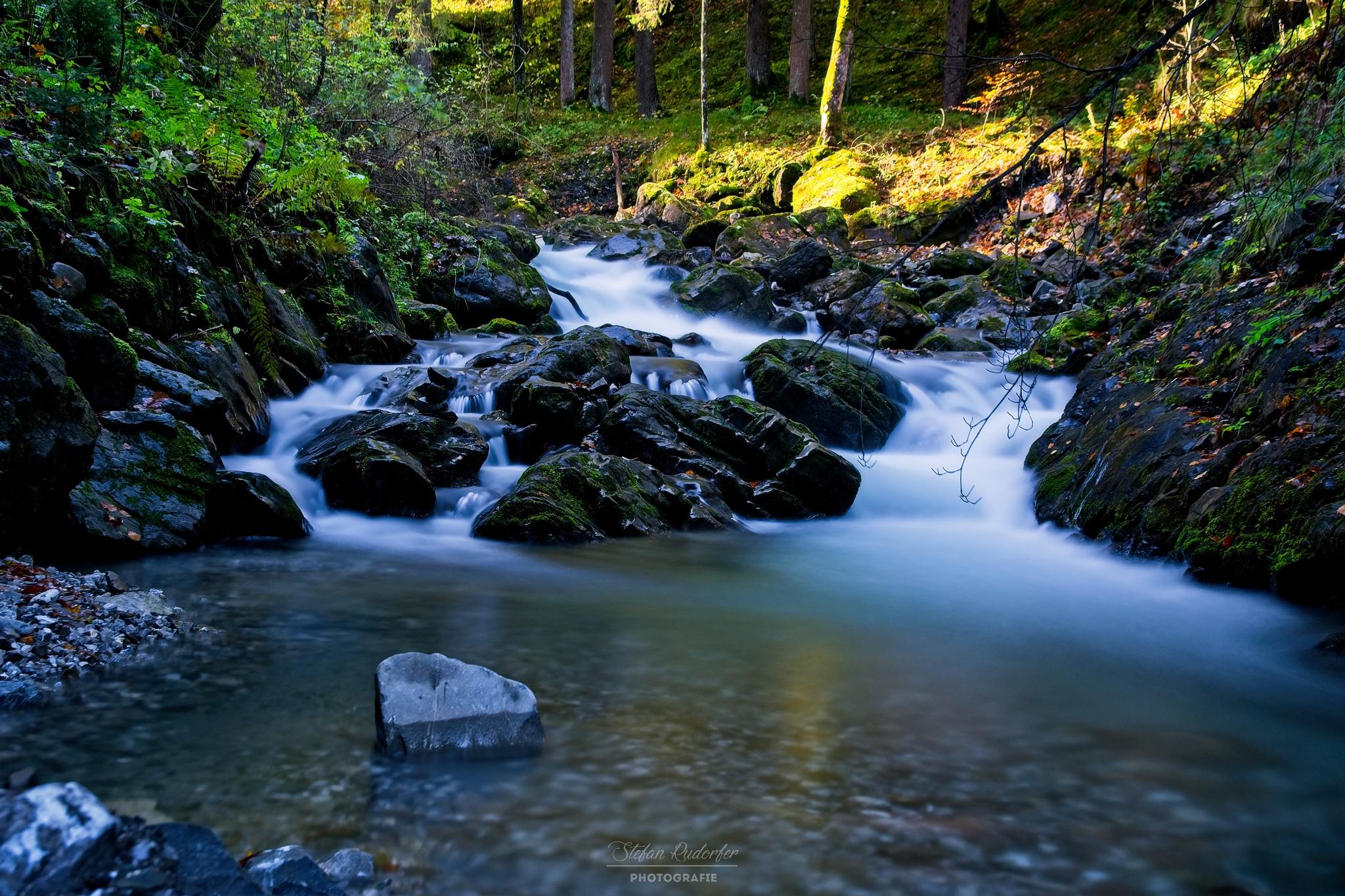 Wasserlauf am ende der Klamm