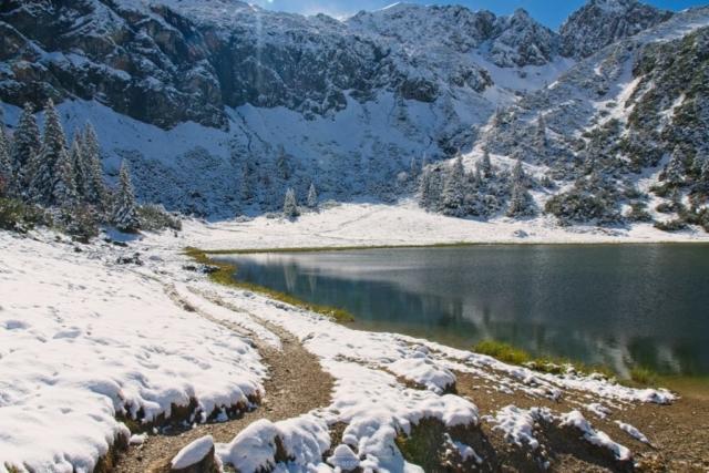 Der untere Gaisalpsse mit Schnee