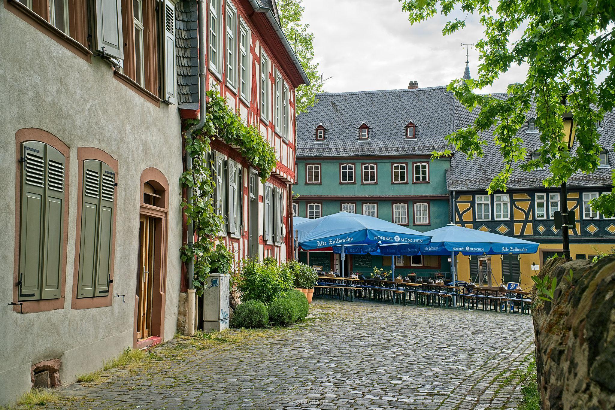 Marktplatz in Frankfurt Höchst