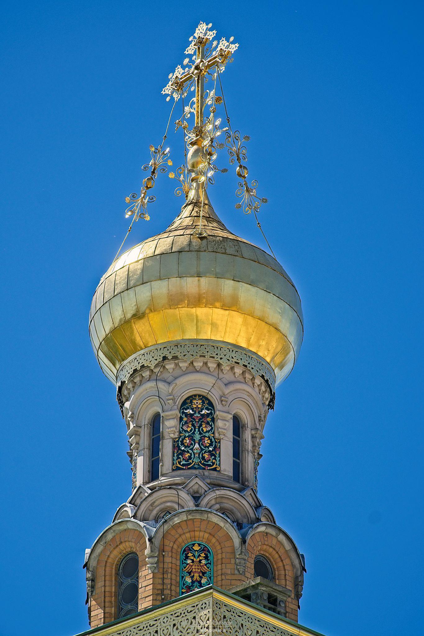 Vergoldeter Zwiebelturm
