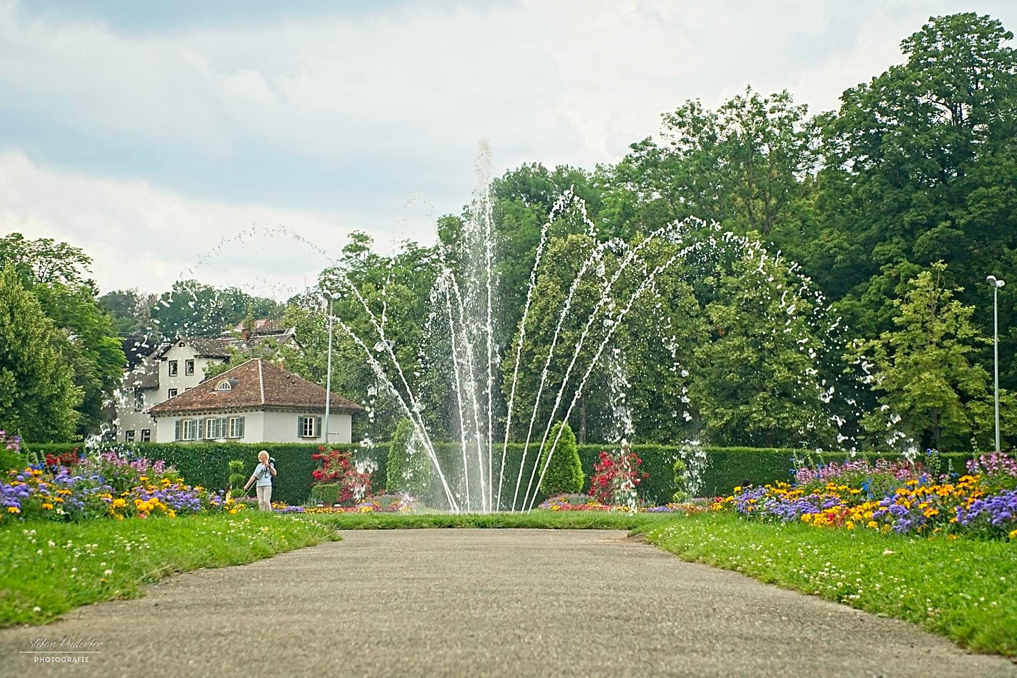 Springbrunnen im Park
