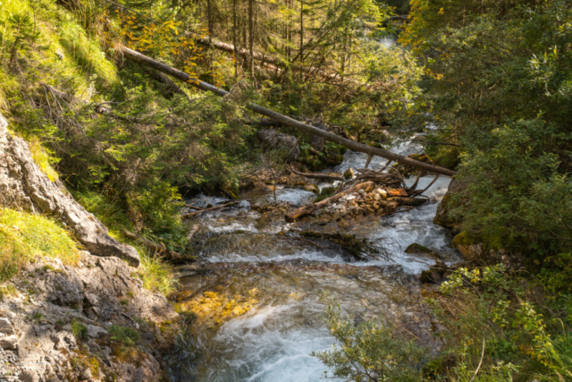 Wasserfall in der Klamm
