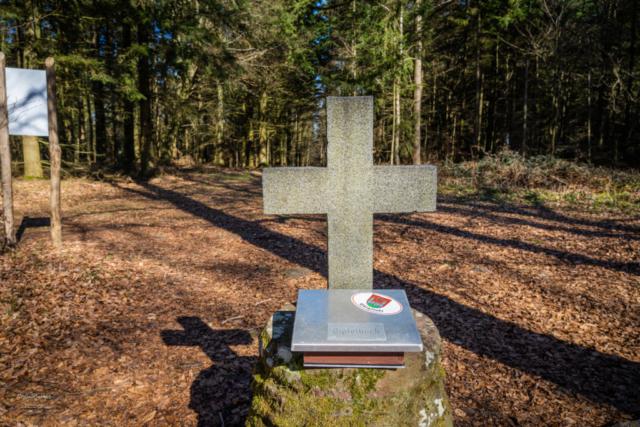 Gipfelkreuz auf dem höchsten Punkt von Bürgstadt