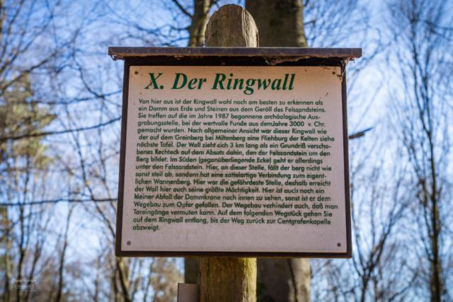 Infotafel über den Ringwall