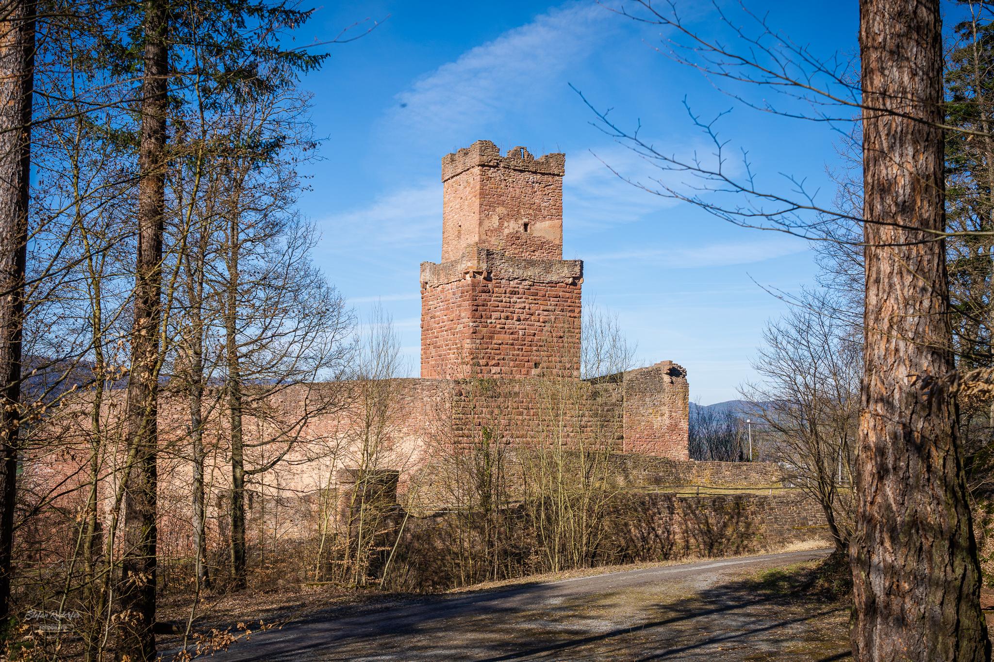 Blick auf den Turm der Freudenburg